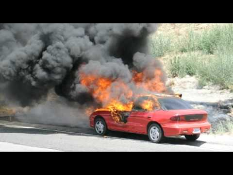 Fire Consumes Car on Highway 99 in Modesto