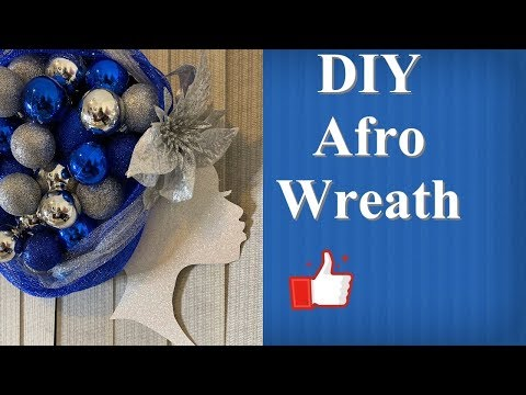 DIY Afro Wreath/Dollar Tree Craft