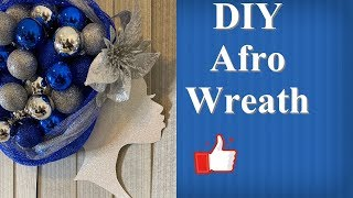 DIY Afro Wreath/Dollar Tree Craft