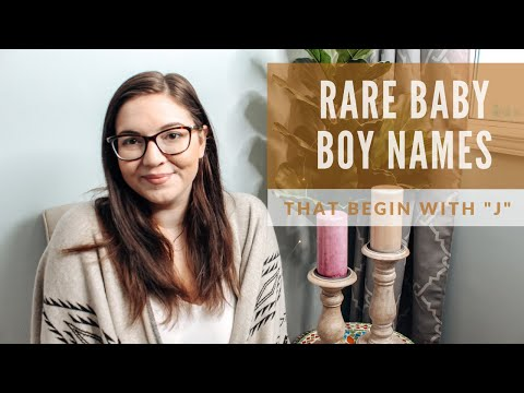 UNIQUE & RARE Boy Names That Begin With The Letter