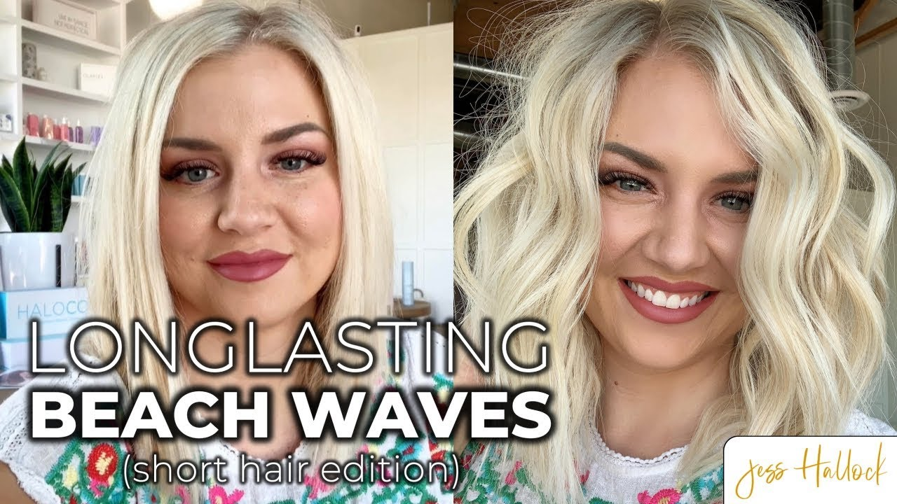 The Perfect 10 Minute Beach Waves Hair Tutorial For Short Hair Jess Hallock Youtube