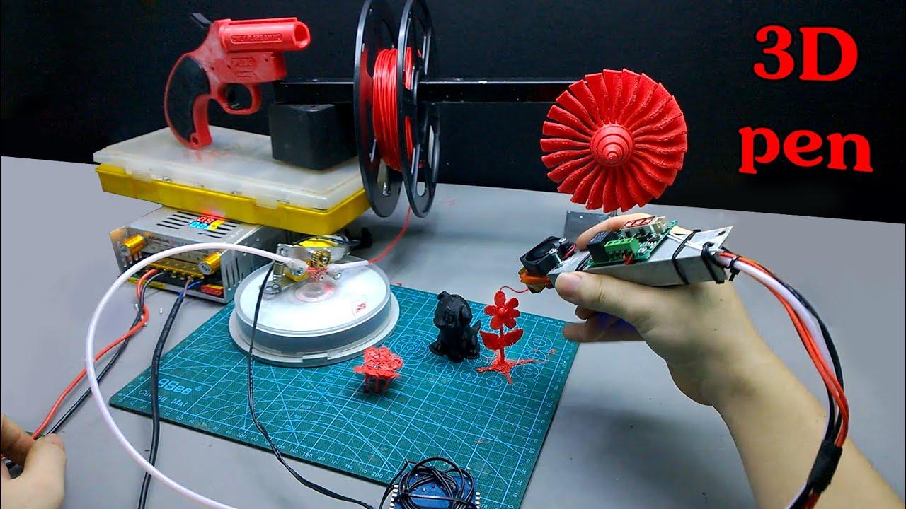 🔴 Chế Bút Vẽ 3D Vẽ Theo Tưởng Tượng | DIY 3D Drawing Pen