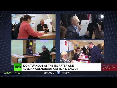 Russian presidential election: All of the candidates have already cast their votes