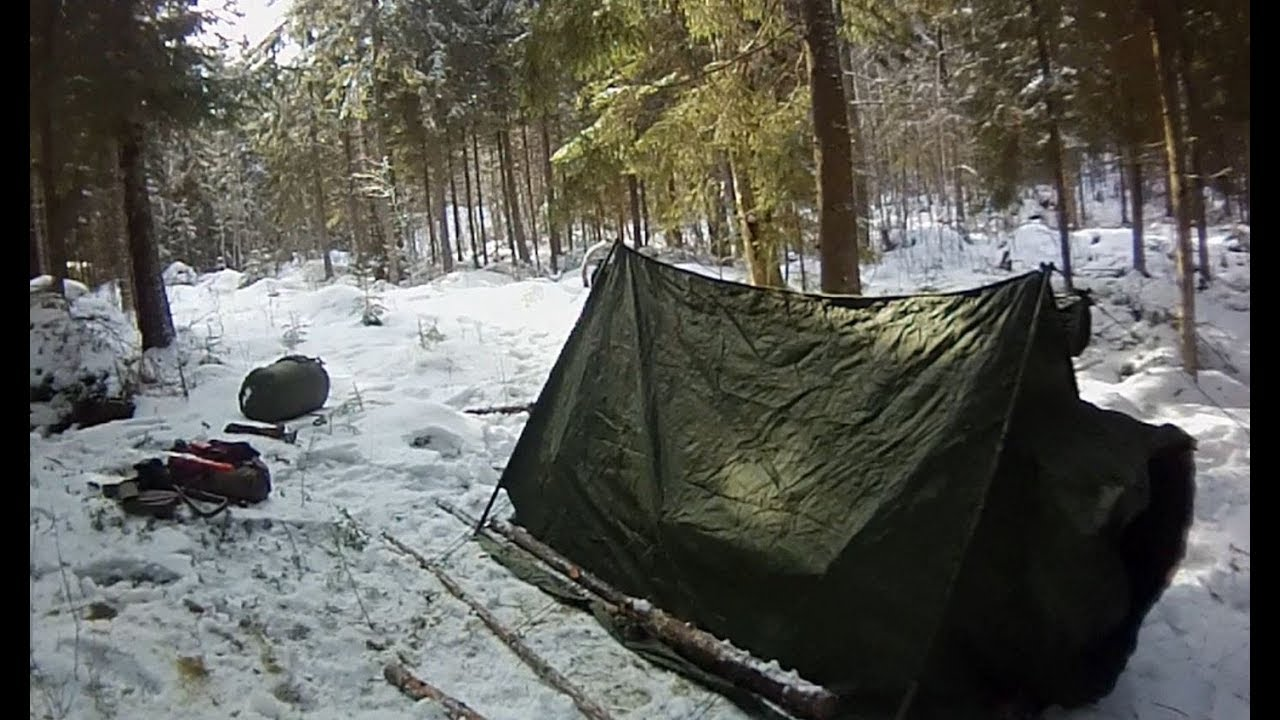 wholesale dealer 060d8 01a42 BRITISH ARMY ARCTIC TENT / Canadian Army sleeping bag / Cold Winter Bicycle  Camping / -15C