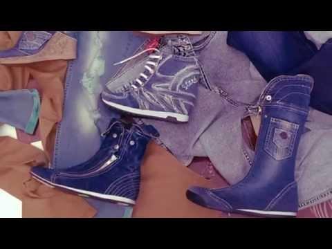 Джинсовая обувь.