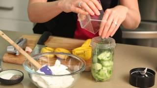 Middle Eastern Cucumber Yogurt Dip : Healthy Snacks