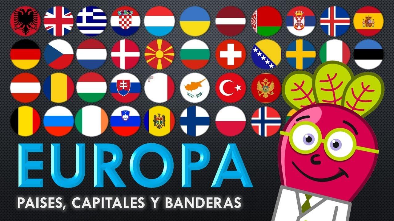 banderas de europa con sus paises