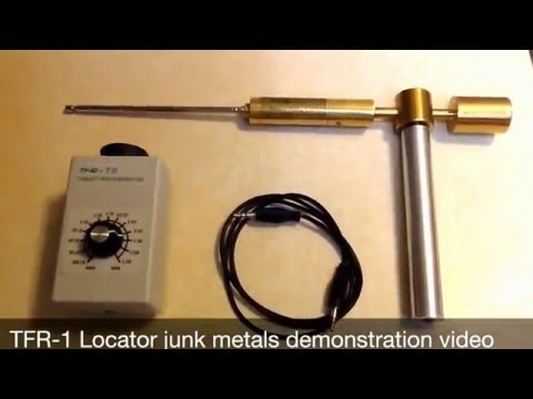 Long Range Locator TFR-1 junk metals demonstration video.