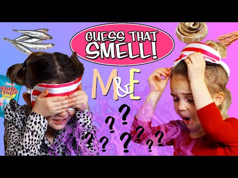 GUESS THAT SMELL CHALLENGE! | MILA & EMMA