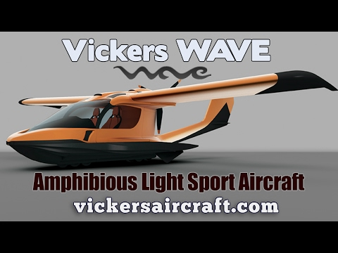 Vickers Wave amphibious light sport aircraft, by Vickers Aircraft.