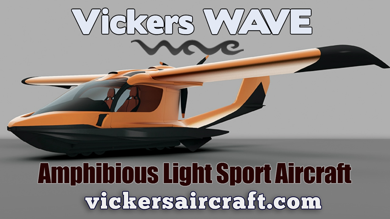 Vickers Wave amphibious light sport aircraft, by Vickers Aircraft