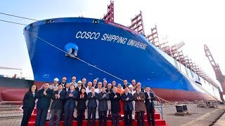 World's largest containership made in China