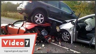 بالفيديو .. طالب يخترع هيكل سيارة ضد حوادث الطرق وموفر للبنزين