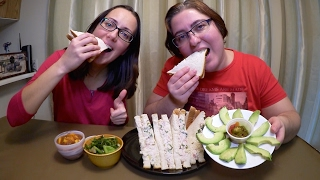 Chicken Salad Sandwichs With Avocado And Mango Salsa | Gay Family Mukbang (먹방) - Eating Show