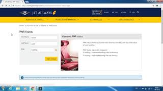 how to check Jet Airways airline ticket