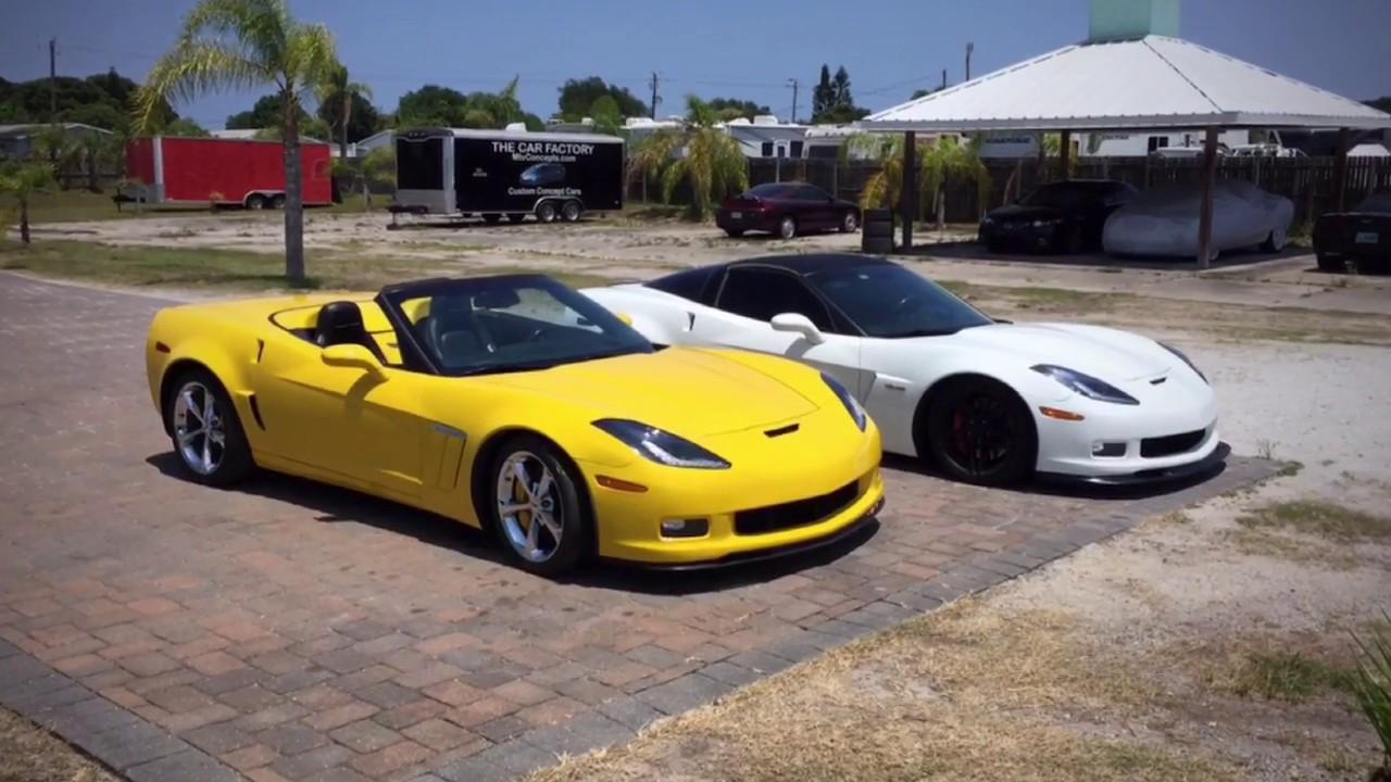 C67 Corvette Number Two C7 Headlights On C6 Corvette