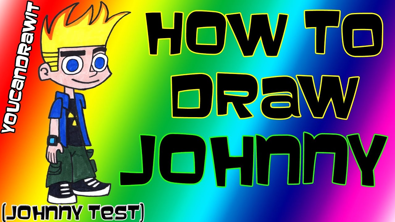 How To Draw Johnny from Johnny Test  YouCanDrawIt  1080p HD