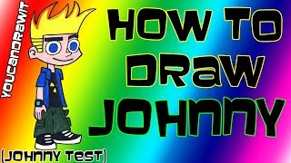 How To Draw Johnny from Johnny Test ✎ YouCanDrawIt ツ 1080p HD