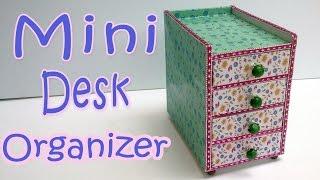 How to make a Mini Desk Organizer - Ana DIY Crafts.
