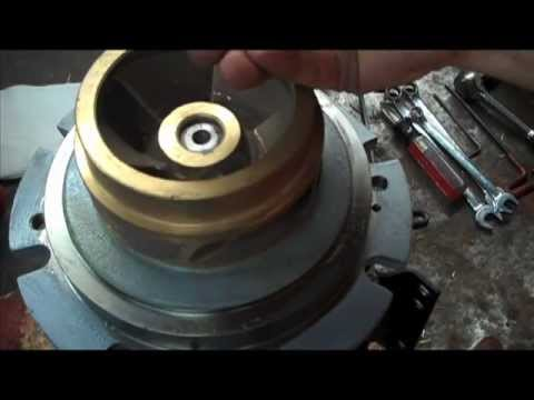 Pump seal change installation repair how to tutorial rebuild close coupled  motor mounted 4380 1531