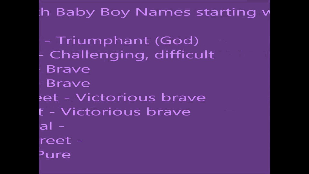 Baby Boy Names From Letter V