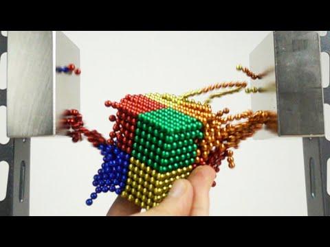 Double Monster Magnet VS Magnetic Balls In Slow Motion   Magnetic Games