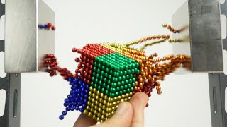 Double Monster Magnet VS Magnetic Balls in Slow Motion | Magnetic Games