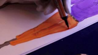 Lesson no. 4, P.2 - COTTON GARMENTS, Fashion Drawing