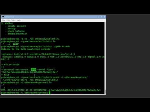 Ethereum Setup on Raspberry Pi 3
