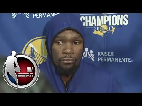 Kevin Durant postgame interview after Warriors' loss to Thunder | NBA on ESPN