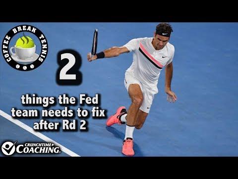 2018 Australian Open 2 things Fed MUST FIX Rd 2 | Coffee Break Tennis