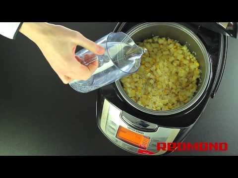 Рис с кукурузой и яблоками в мультиварке REDMOND M4502. Рецепты для мультиварки