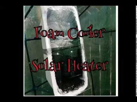 DIY Foam Cooler Solar Heater