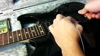 cmo cambiar las cuerdas a guitarra elctrica ibanez grg270b bkn