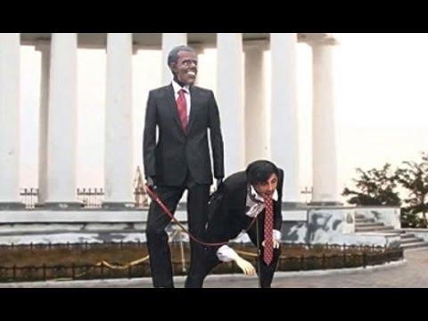 В Одессе установили издевательский памятник Обаме и Саакашвили