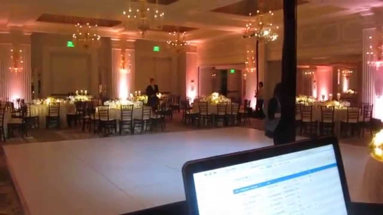 dj lighting setup hotel casa del mar wedding youtube