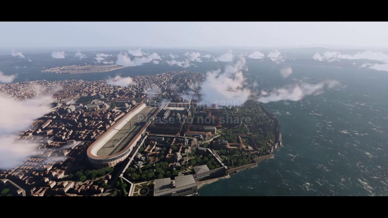 Passeio por reconstrução digital de Constantinopla