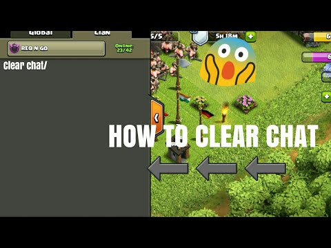 How To Use Clear chat / in clash of clans /Tricks| CLASH OF CLANS