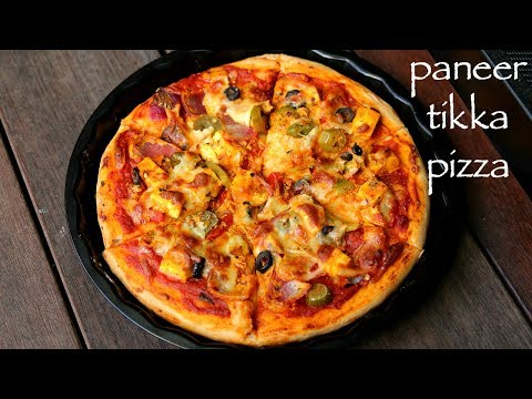 Homemade Paneer Tikka Pizza Recipe