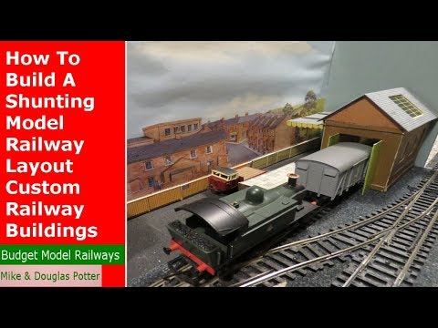 How To Build An OO Gauge Micro Shunting Model Railway / Railroad Layout Custom Buildings