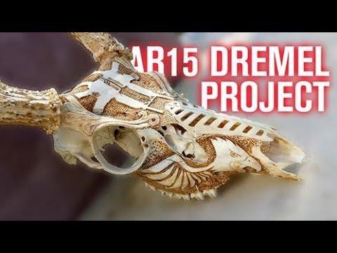 AR15 Carved Deer Skull