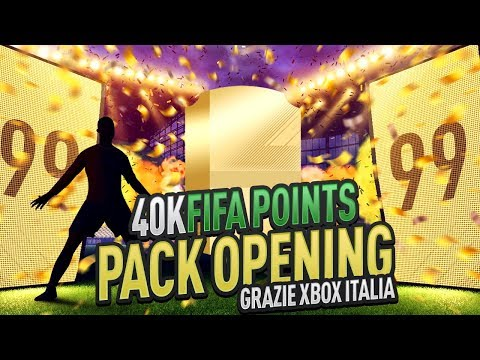 40000 FIFA POINTS PACK OPENING - GRAZIE XBOX ITALIA!