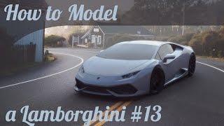 3D Car Modeling Tutorial pt.13   Autodesk Maya   Modeling a Lamborghini Huracan