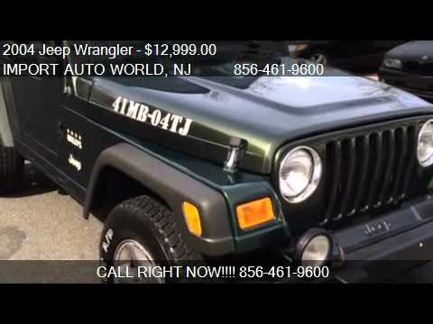 2004 Jeep Wrangler Willys Edition for sale in Delran NJ 080  YouTube
