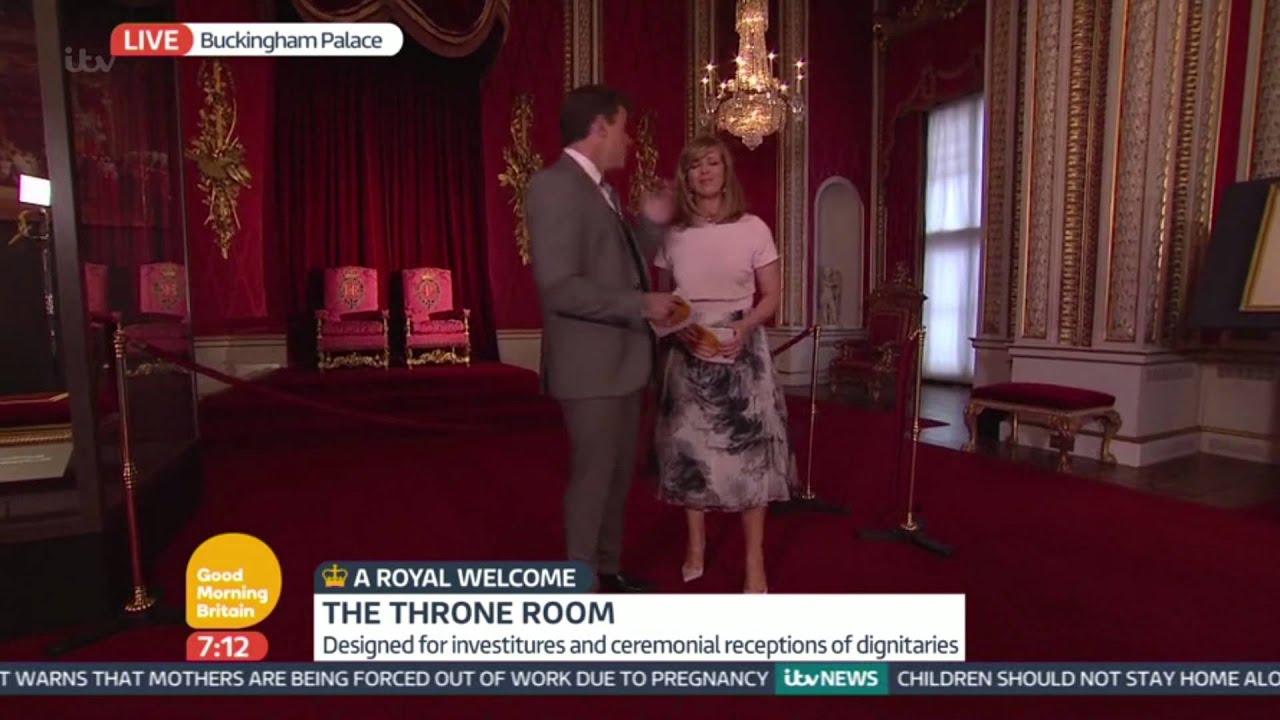 Throne room buckingham palace - The Throne Room Inside Buckingham Palace Good Morning Britain