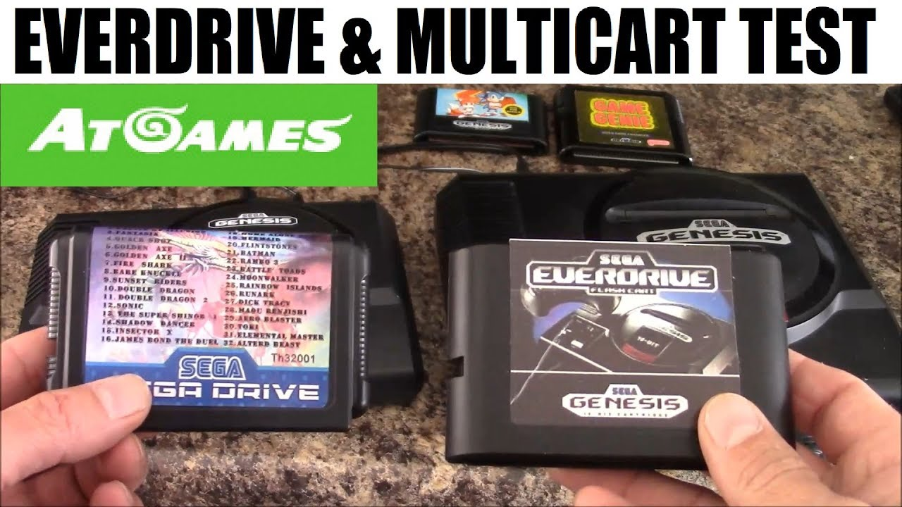 Sega Genesis Flashback HD: Everdrive and Multicart test: AT Games