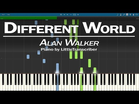 Alan Walker - Different World (Piano Cover) Ft K-391, Sofia Carson, CORSAK By LittleTranscriber