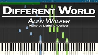 Gambar cover Alan Walker - Different World (Piano Cover) ft K-391, Sofia Carson, CORSAK by LittleTranscriber