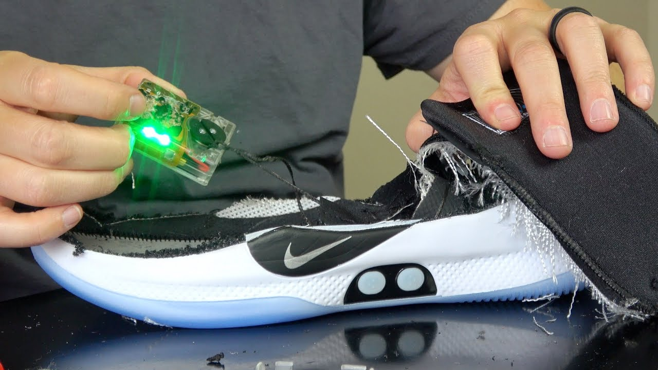84e1c152a3b8 What s inside World s First Self Lacing Basketball Shoes  - YouTube