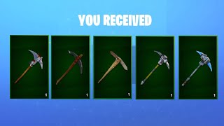 All Fortnite Save The World Quest Pickaxes Unlocked in Battle Royale.!
